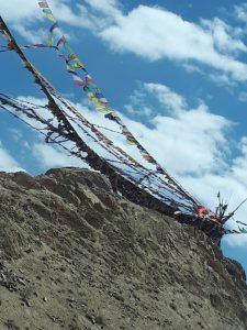 Flags by Namgyal Tsemo Monastery, Leh