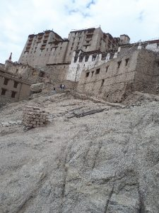 Leh Palace viewed from trail