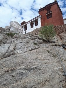 Mangyal Tsemo Monastery viewed from climb, Leh