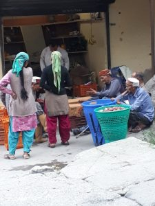Vegetable shop, upper Old Manali, Himachal Pradesh