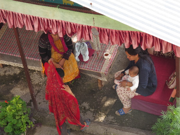 Womenfolk And Kids At Krishna's Guesthouse, Manali
