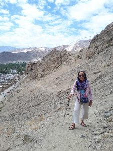 Up the trail to palace and monastery, Leh