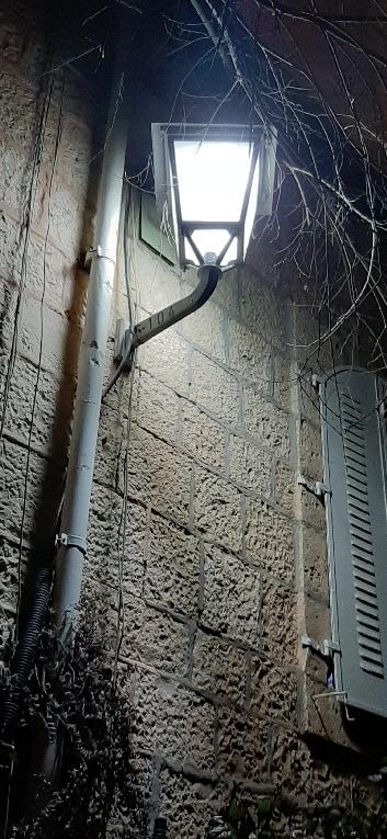 Street light, Yemin Moshe,, Jerusalem