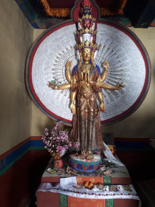 Buddha and demons, Mangyal Tsemo Monastery, Leh