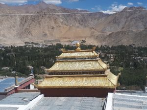 Gold over Leh, roof of Buddha Temple
