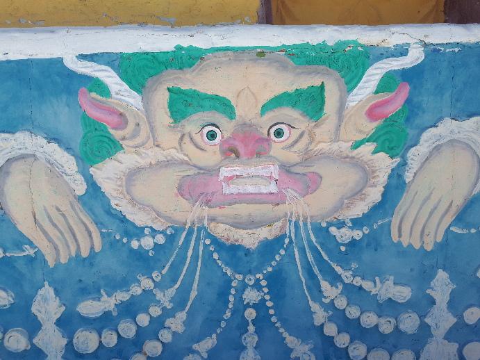 Demon. Shanti Stupa Leh