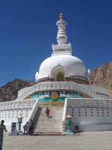 Shanti stupa with stairs, Leh Ladakh