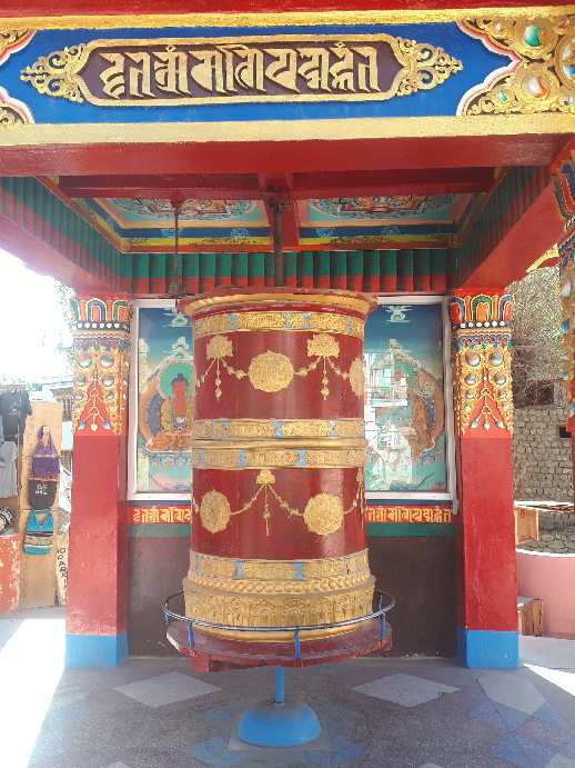 Prayer wheel on Israeli Road, Leh