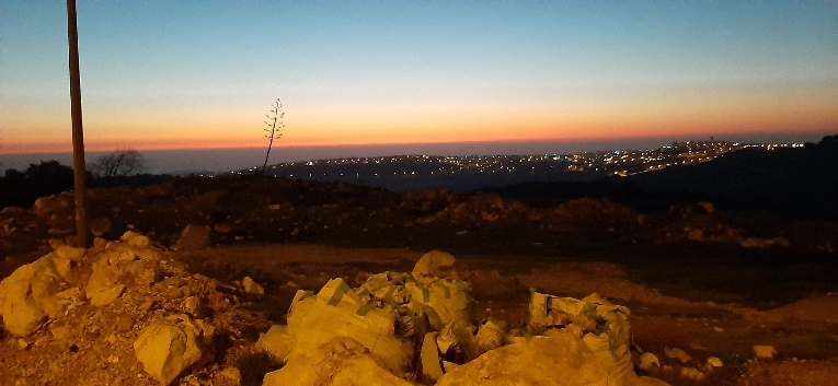 Dawn over Jordan with agave