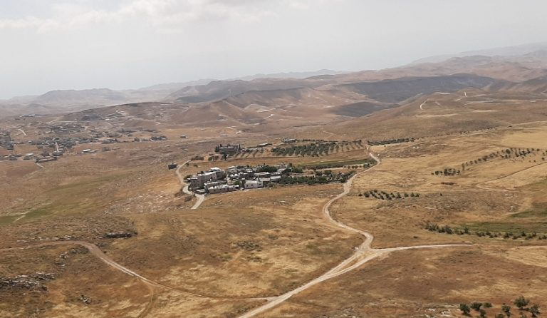 Small settlement viewed from Herodium National park