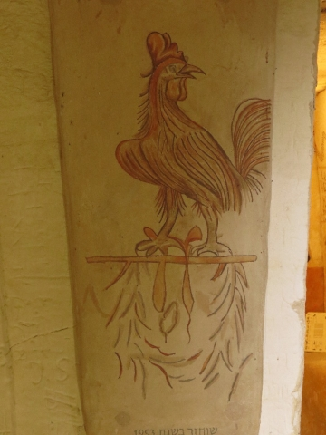 A rooster crows to scare away the demons. Apollophanes Cave. Beit Guvrin