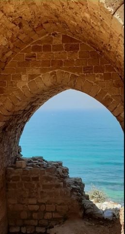 Crusader fortress. Apollonia National Park