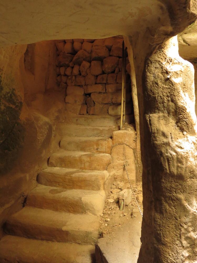 Entrance to Columbarium Cave. BeitGuvrin National Park