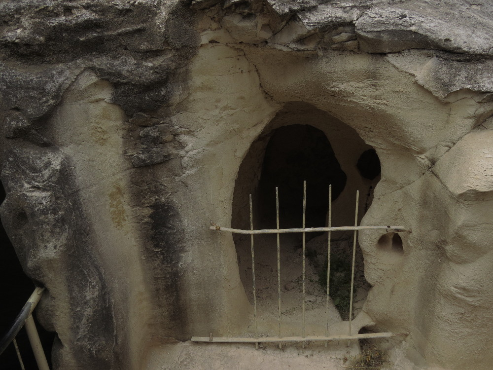 Entrance to Olive Press Cave. Beit Guvrin National Park.