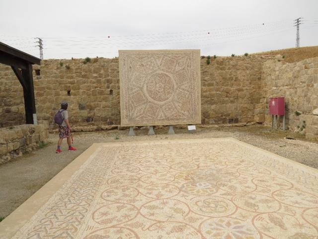 Floor from Deir Qal'a church, western Samaria. Good Samaritan Museum