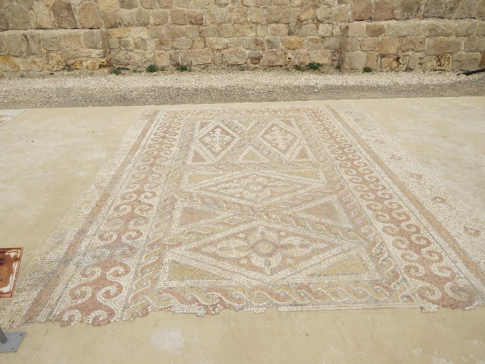 Floor from Deir Qal'a church. Good Samaritan Museum