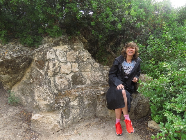 Judith enjoying the day at Beit Guvrin