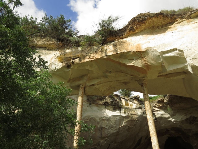 Maintaining soft chalk arches. Beit Guvrin National Park