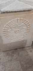 Roman sarcophagus from Neapolis, Good Samaritan Museum