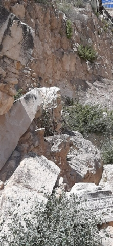 Ruins in disarray at Herodium's grounds, Israel