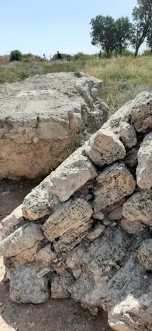 Ruins of city wall. Apollonia National Park