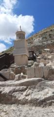 Small reconstruction model of Herod's Tomb, Herodium National Park
