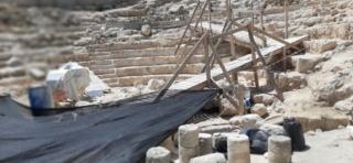 The Royal Theatre at Herodium National Park under reonstruction