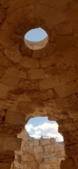 The tepidarium cupola. Herodium National Park
