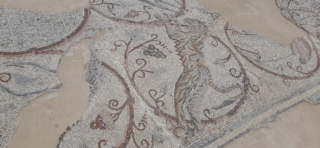 Tiger figure from Gaza Synagogue. Good Samaritan Museum