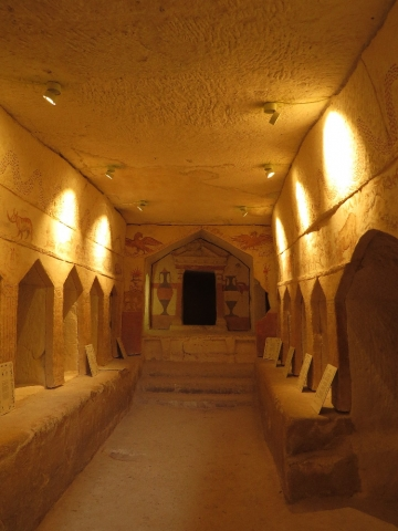 View of Apollophanes Cave. Beit Guvrin National Park