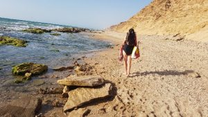 Walking on Apollonia beach