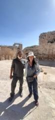 With Yishai, reconstruction expert, at Herodium National Park