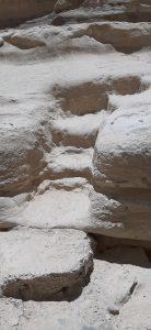 Steps carved in rock
