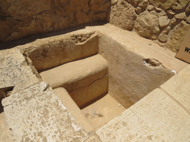 Ancient sit bath. Mamshit National Park