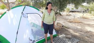 Camping with new tent in Me'ever, Mitzpe Ramon