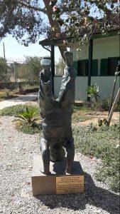 Classica: Ben Gurion standing on his head. Sde Boker