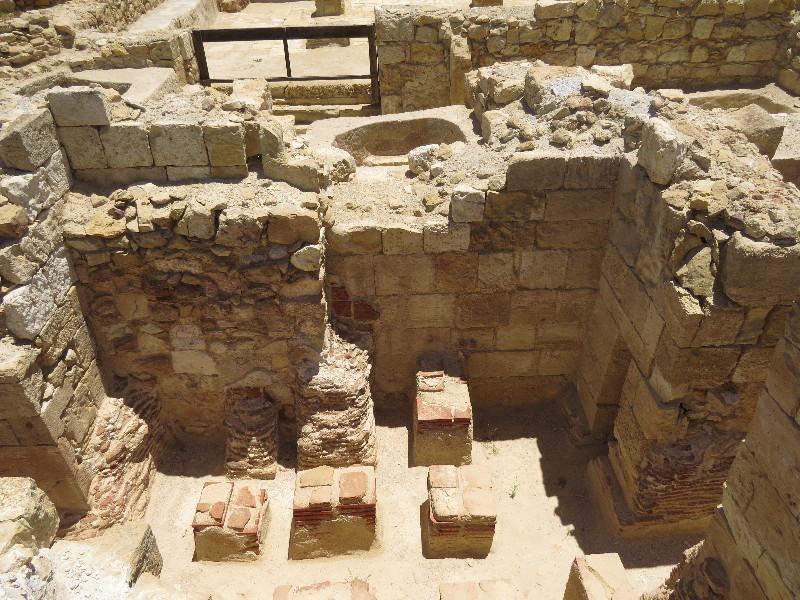 Red bricks furnace in Roman style bathouse. Mamshit National Park (2)