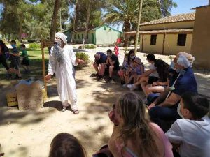 Moses and Ben Gurion in show for kids. Ben Gurion Museum, Sde Boker