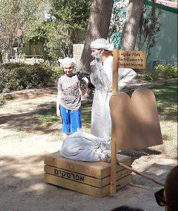 Show for kids at ben Gurion's shack in Sde Boker