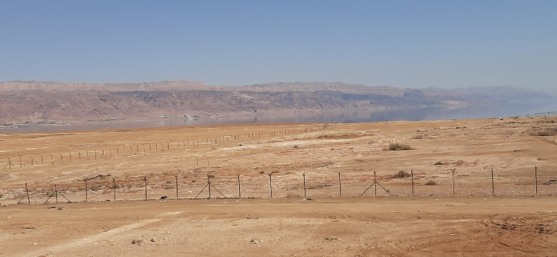 View over Northern dead Dead Sea and Jordan