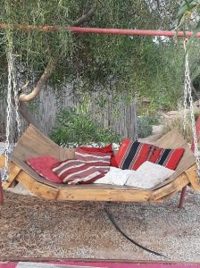 Wooden hammock in Me'ever, Mitzpe Ramon