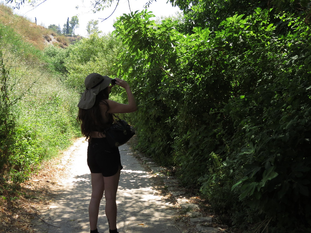 Ela enjoying the walk in Iyon stream Nature Reserve, Upper Galilee