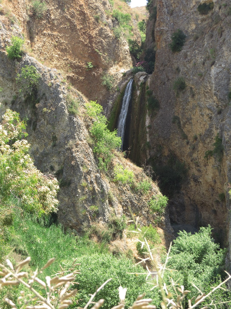 Tanur Waterfall, upper view. Iyon Stream Nature Reserve, Israel