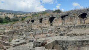 At Agrippa II Palace. Banias Nature Reserve
