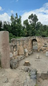 At the Agrippa Palace ruins. Banias