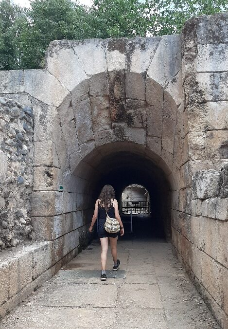 Entrance to Agrippa II Palace. Banias