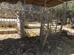 Animals' coops at Yashar's courtyard. Ein Kerem