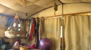 The kids' rooms at Yashar's tent